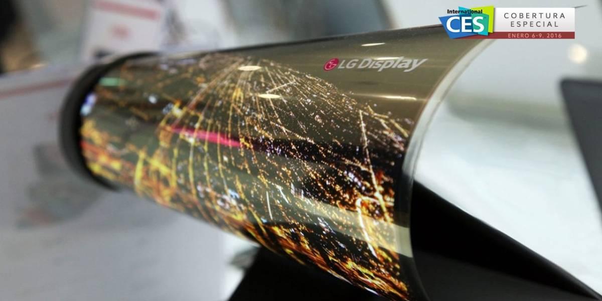 LG presenta panel OLED de 18 pulgadas que puede enrollarse #CES2016