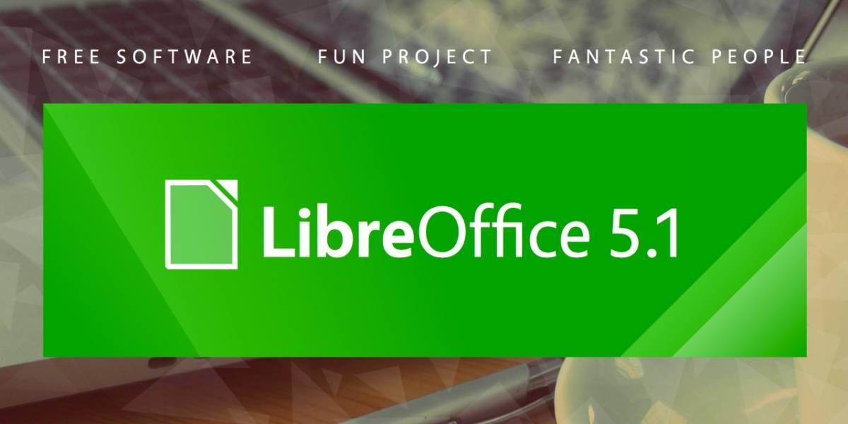 LibreOffice 5.1 ya está disponible con mejoras en la interfaz y de compatibilidad