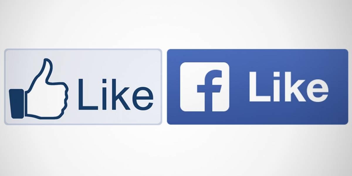 """Facebook le pone diseño plano al botón """"me gusta"""""""