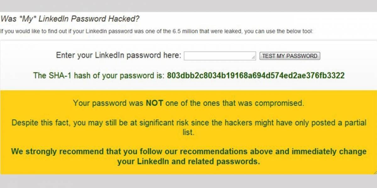 Entérate si tu contraseña fue una de las robadas en LinkedIn