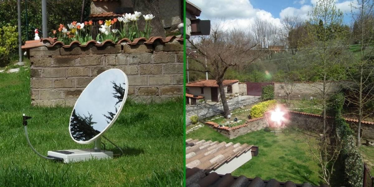 SunnyBot: Un robot a energía solar que redirige la luz del sol a un punto fijo que desees
