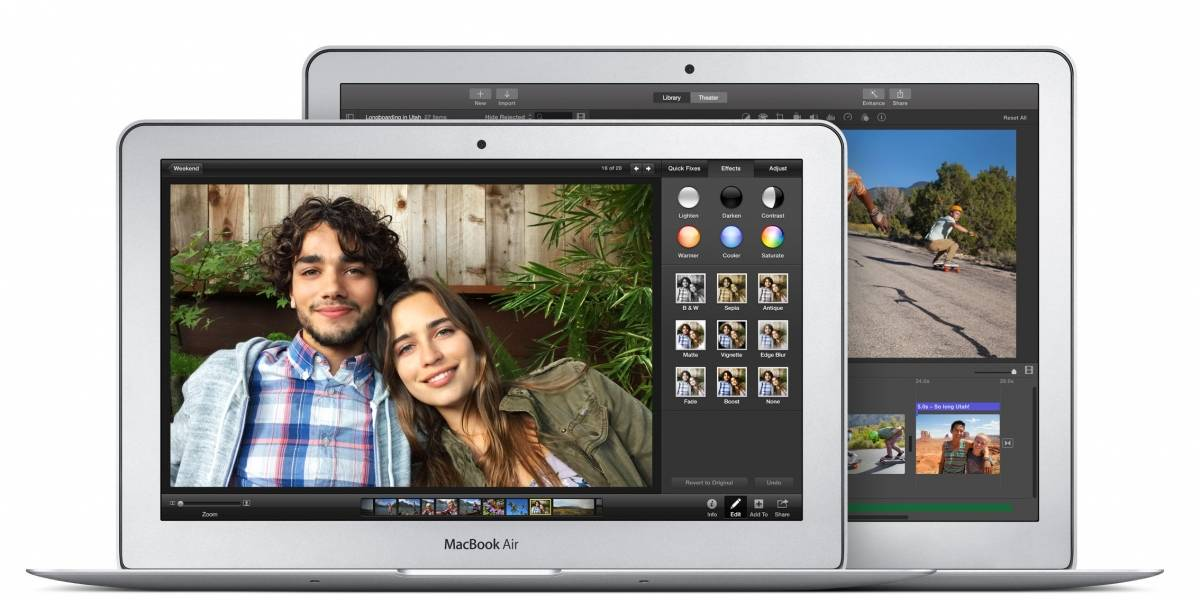 Apple actualiza ligeramente los MacBook Air y Pro