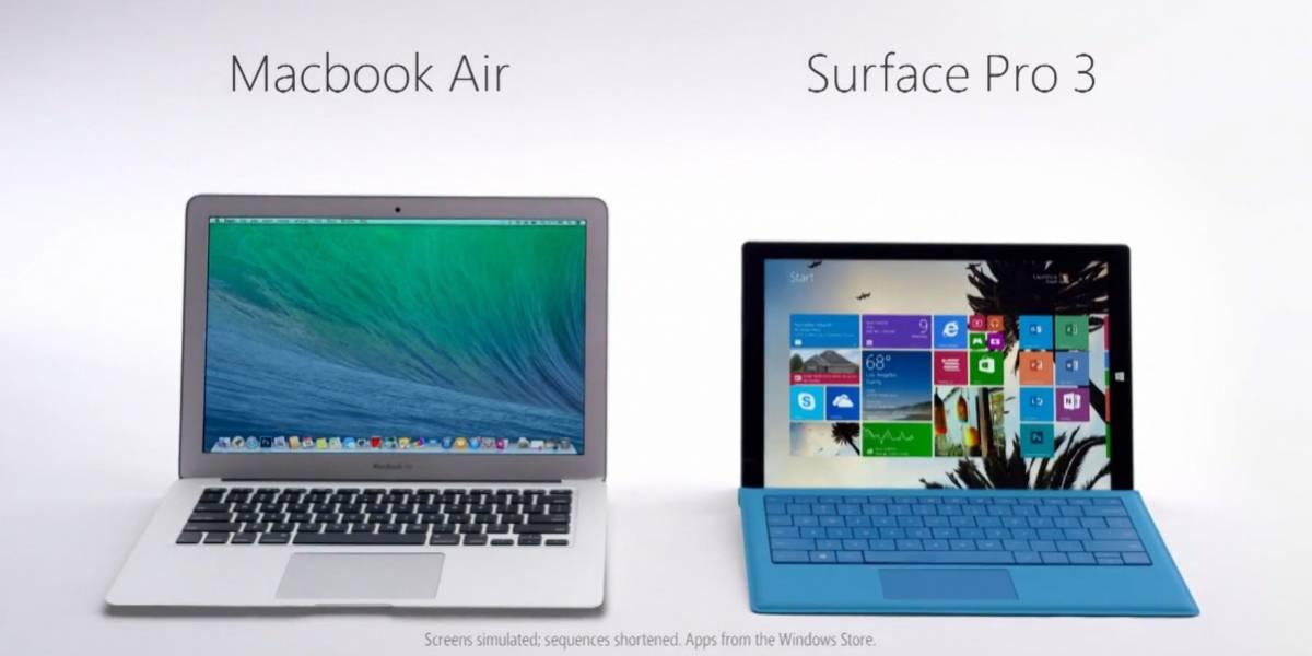 Surface Pro 3 es más poderosa que una MacBook Air, según Microsoft