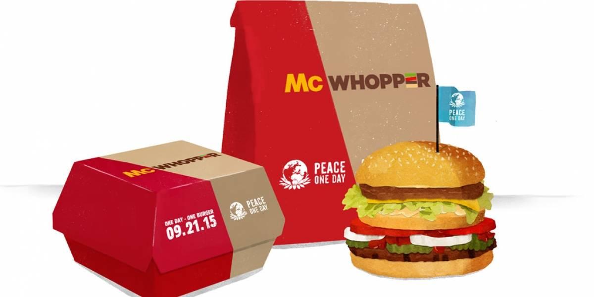 McWhopper, la hamburguesa que uniría a McDonalds y Burger King por un día