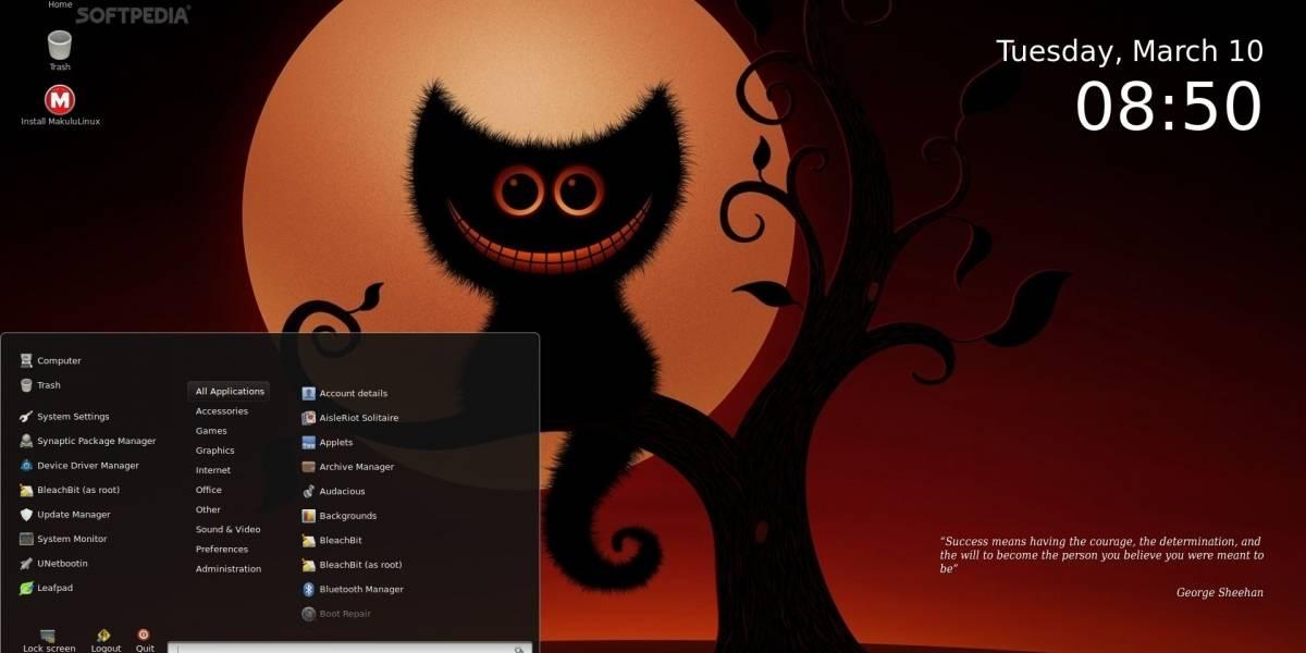 MakuluLinux, una distro que permite guardar el estado actual para continuar en otro PC