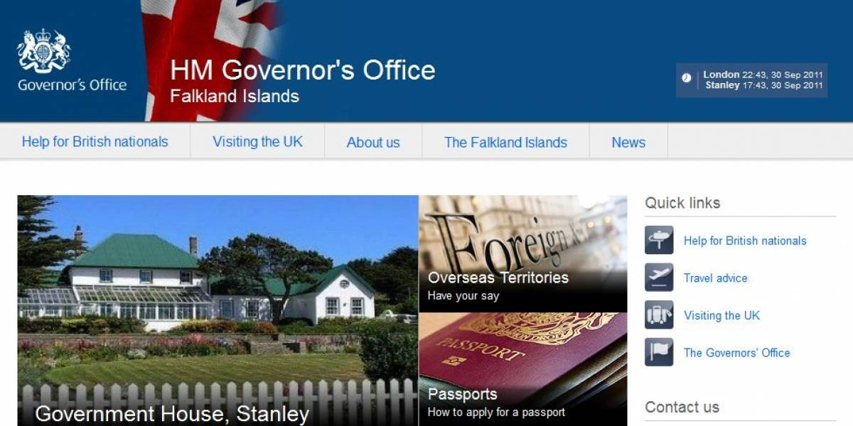 El Reino Unido lanza sitio web y perfiles sociales para promover las Islas Malvinas
