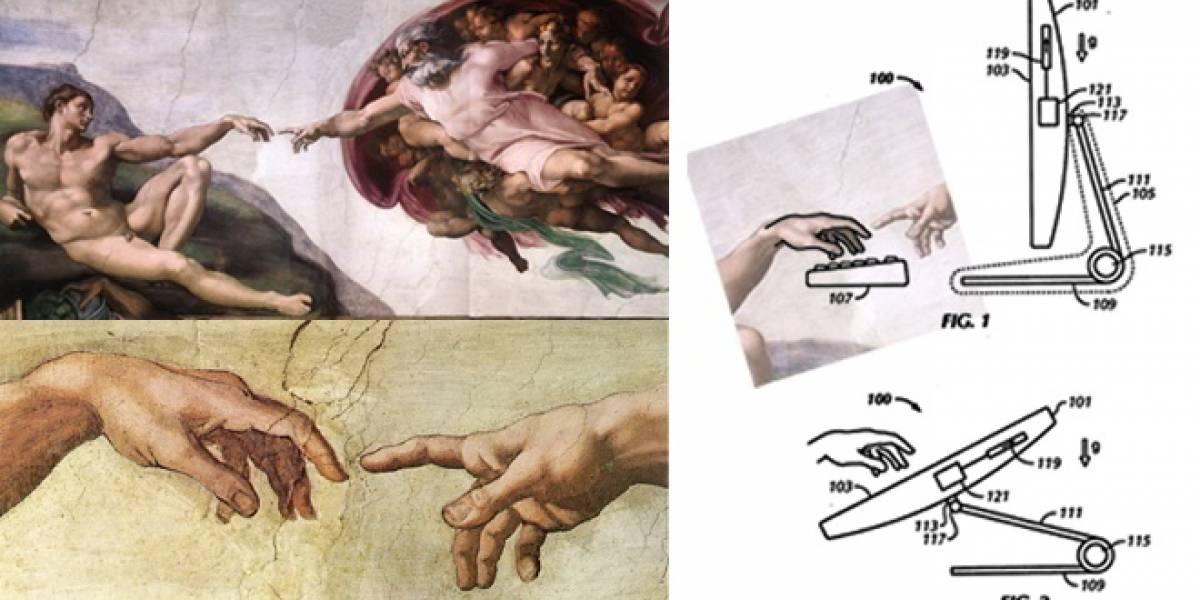 """Un fragmento de """"La Creación de Adán"""" habría sido usado por Apple en uno de sus diseños"""