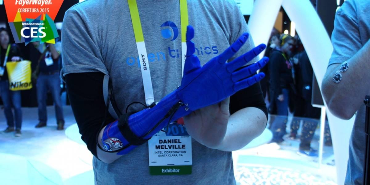 OpenBionics es una mano ortopédica de código abierto fabricado con impresoras 3D #CES2015