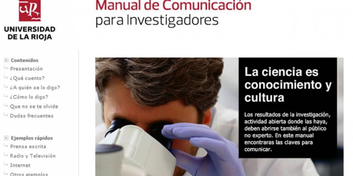 Publican manual en línea de comunicación para científicos