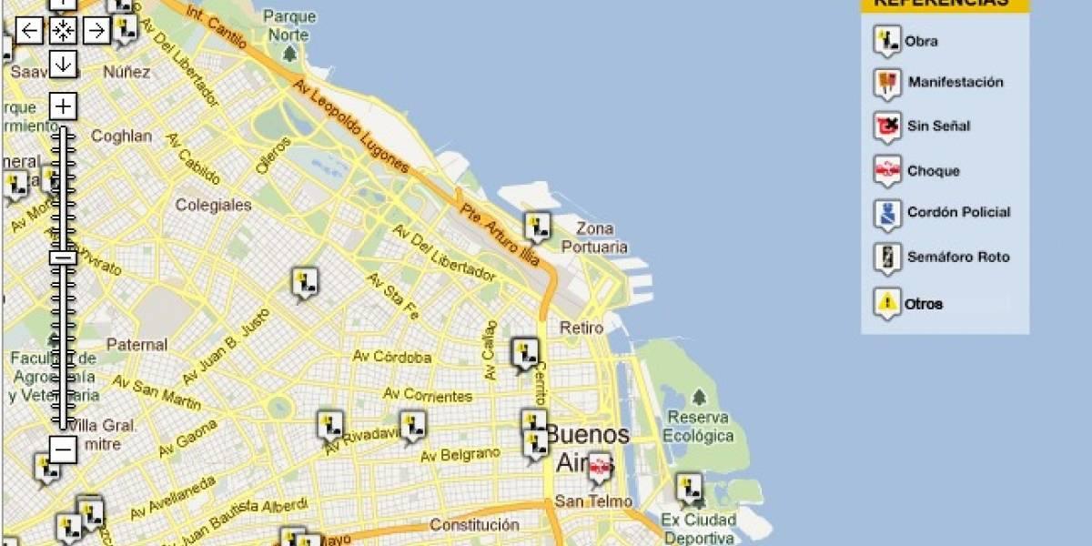 Argentina: La Ciudad de Buenos Aires presentó un mapa online de piquetes y cortes en tiempo real