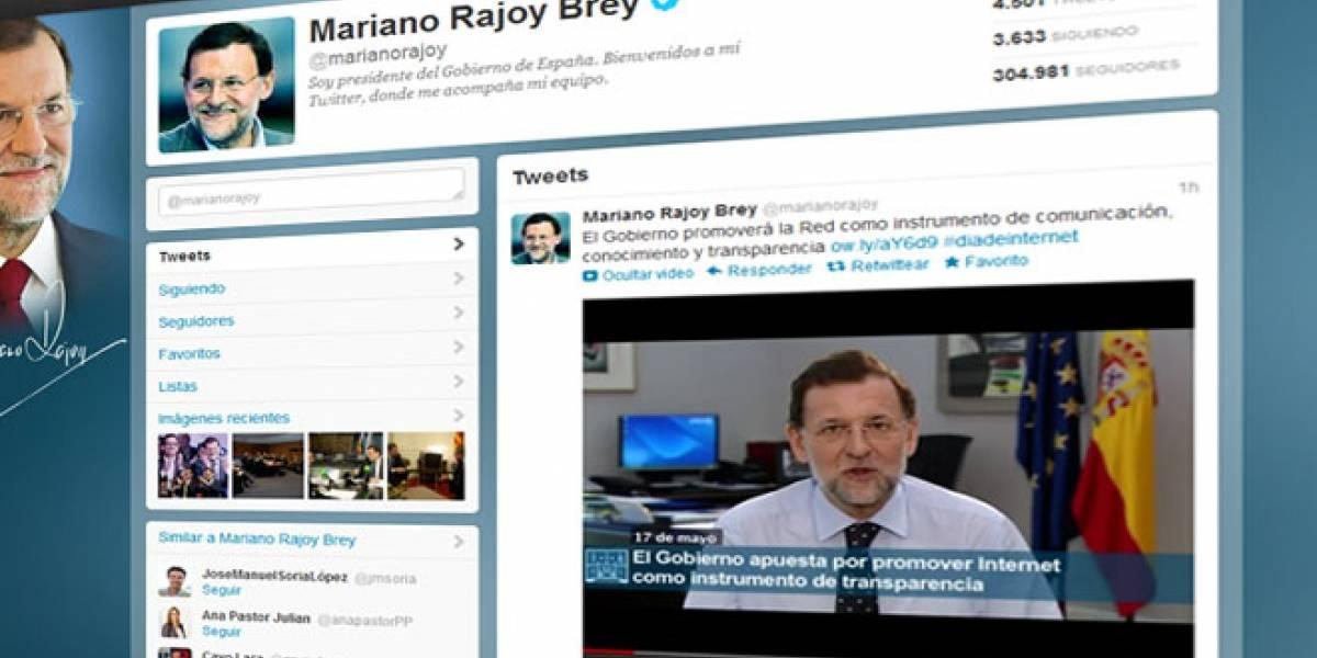 Rajoy afirma en el #DiadeInternet que promoverá la Red como instrumento de transparencia de su Gobierno