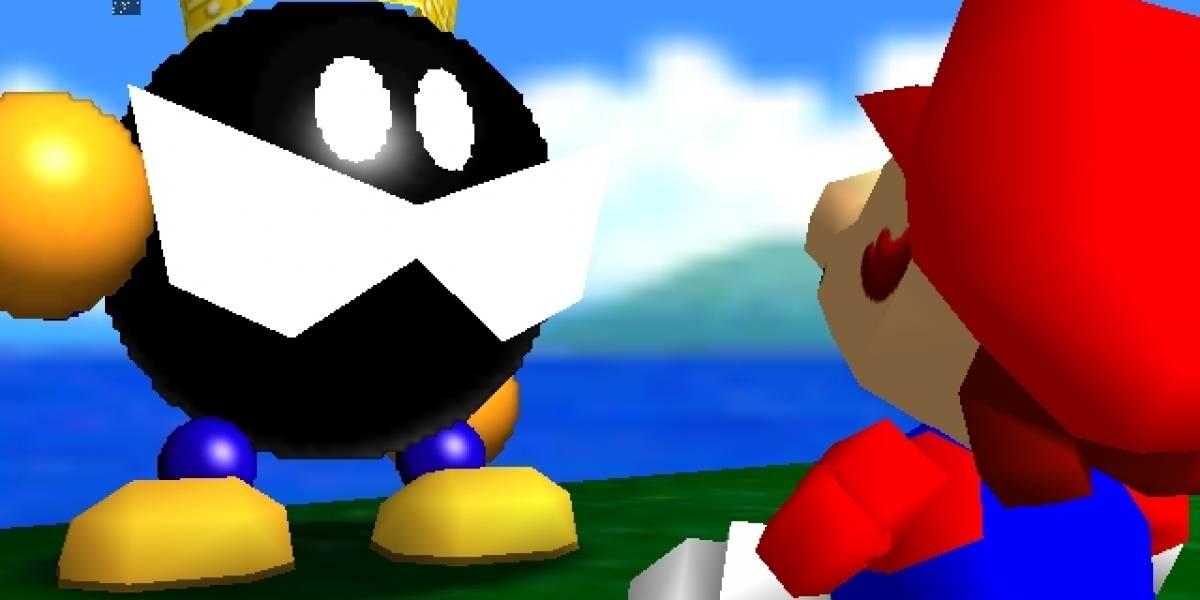 Juega al Super Mario 64 con su pie