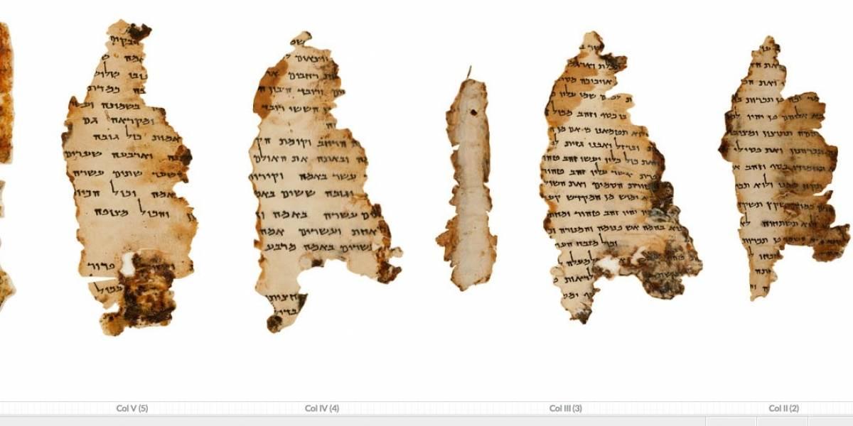 Google digitalizó los pergaminos del Mar Muerto