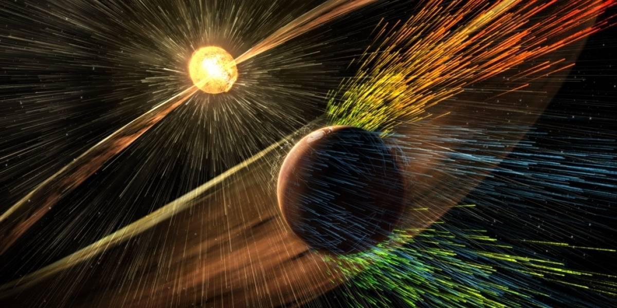 El Sol tiene la culpa de la delgada atmósfera de Marte