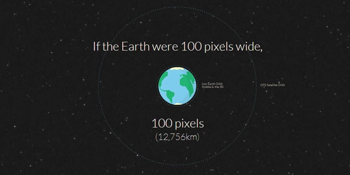 ¿Cuántos pixeles hay entre la Tierra y Marte?