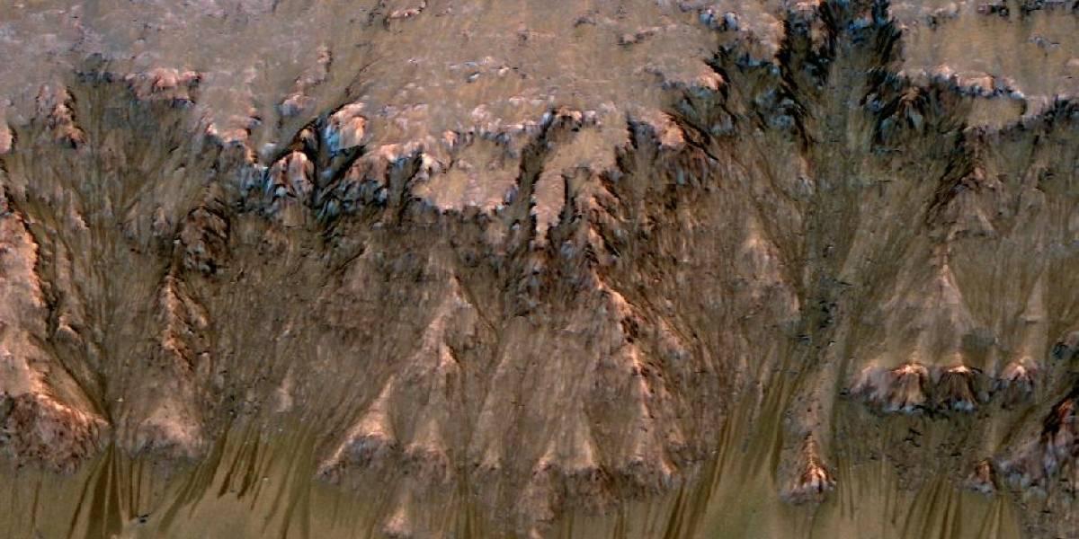 La NASA encuentra evidencias de agua líquida en Marte