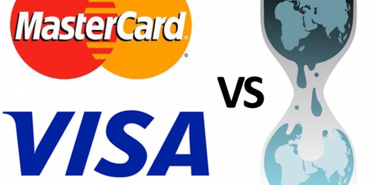 MasterCard y Visa detienen los pagos a WikiLeaks, luego sufren ataques DDoS