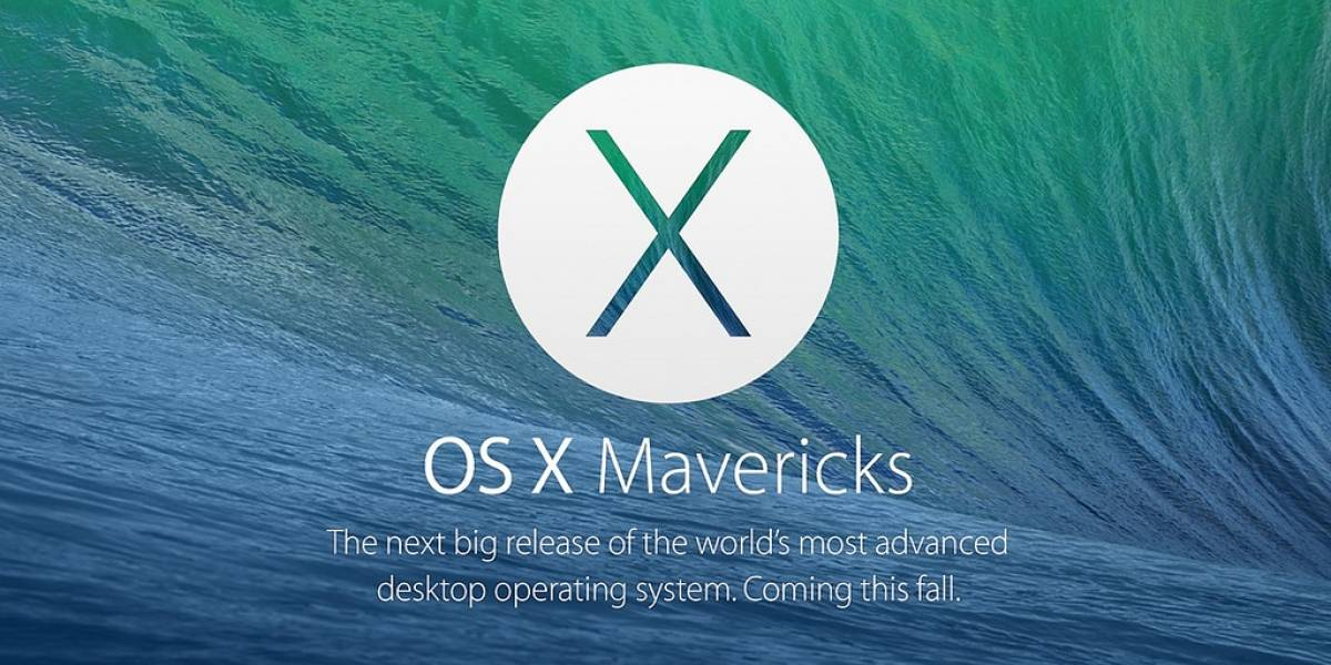 OS X Mavericks ya está disponible para desarrolladores