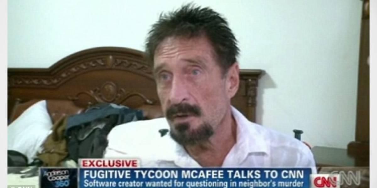 Fundador de McAfee se fuga a Guatemala, es detenido y será enviado a Belice