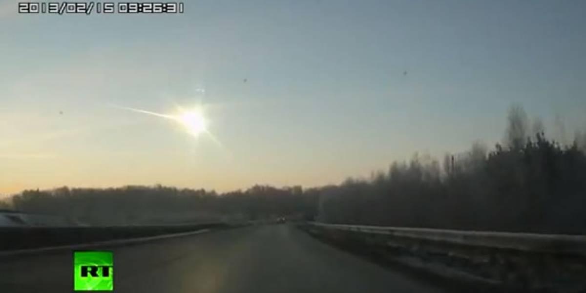 En vídeos: Así cayó el meteorito que dejó centenares de heridos en Rusia