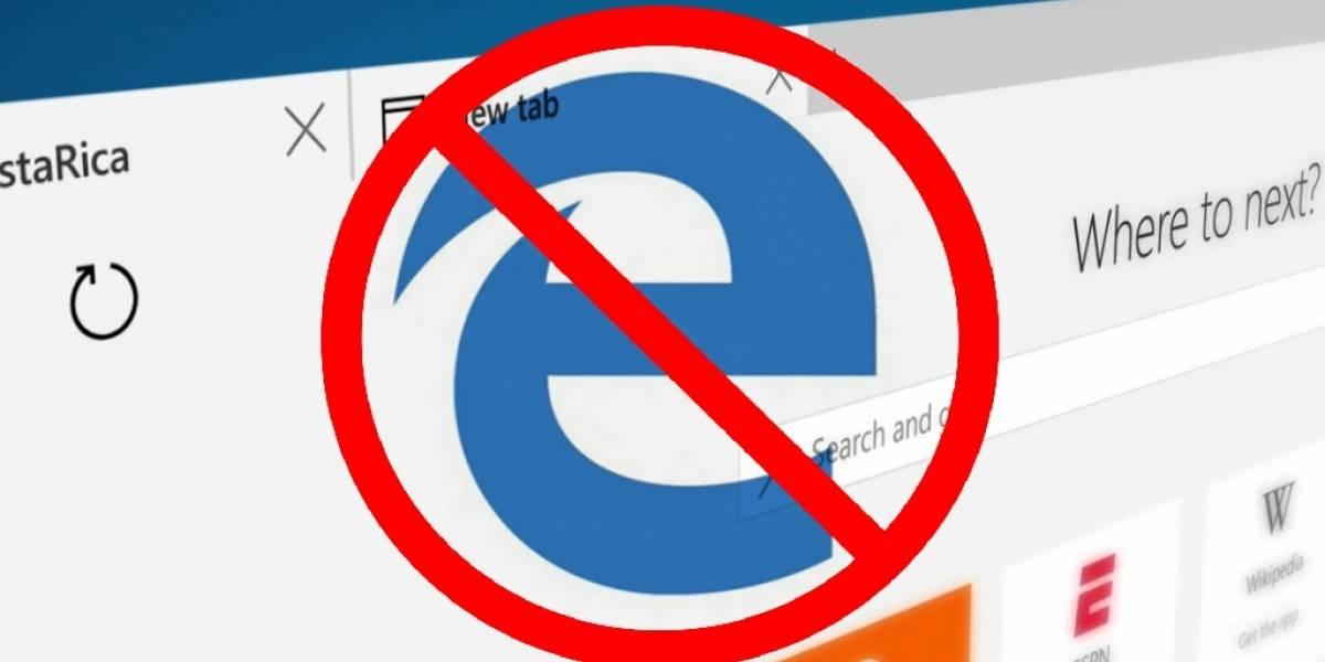 Esta aplicación te permite bloquear a Microsoft Edge en Windows 10