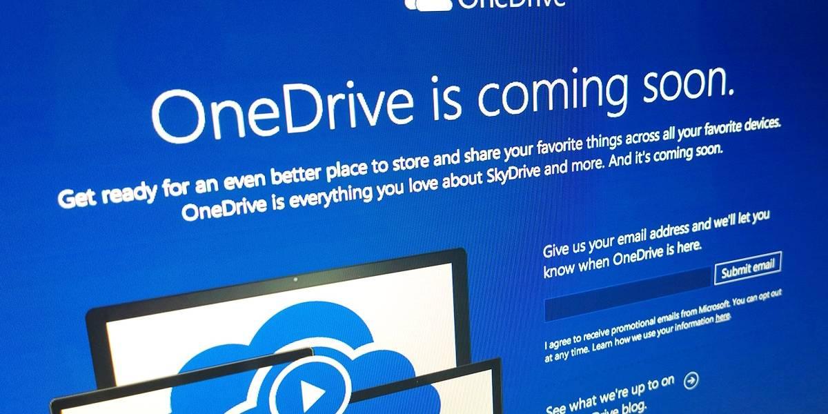 "Microsoft SkyDrive se llamará ""OneDrive"""