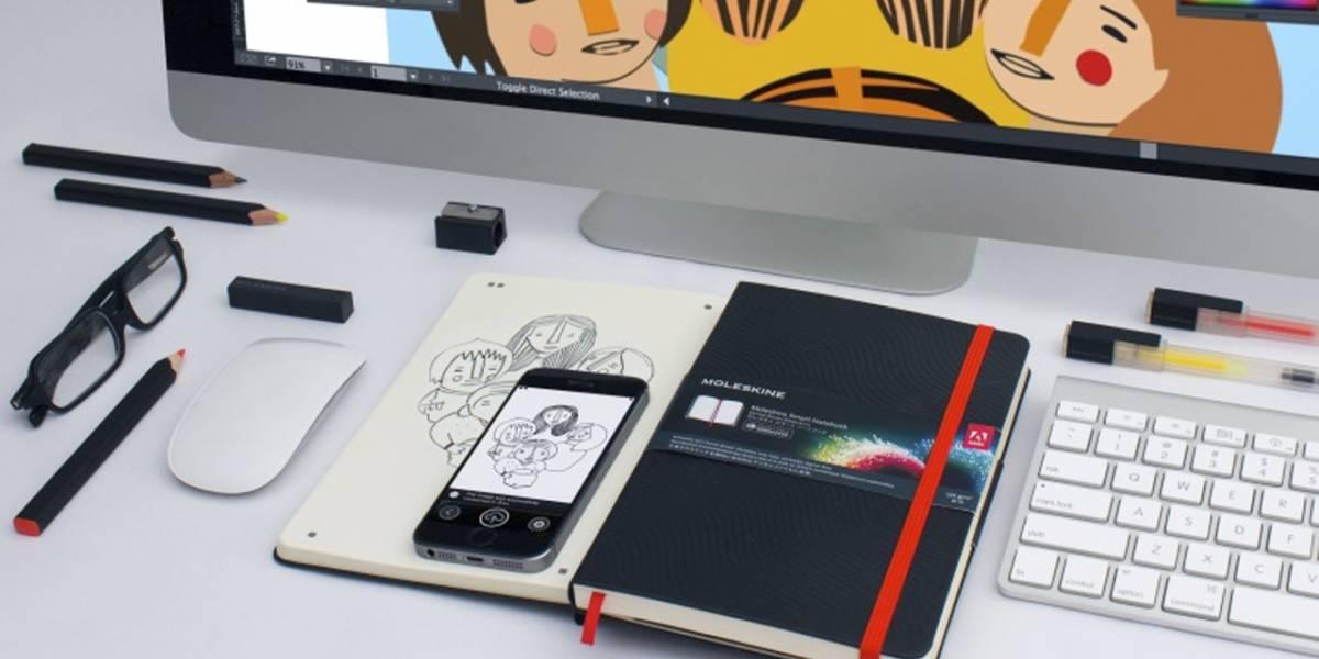 Adobe se asocia con Moleskine para crear una libreta que convierte los dibujos a digital