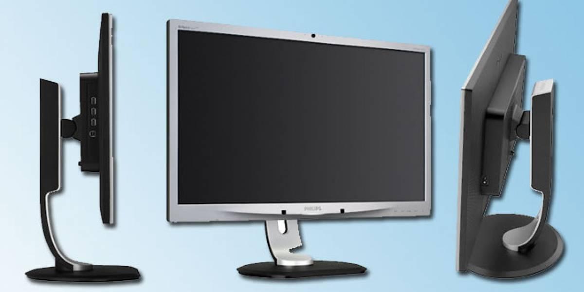 Un nuevo monitor Philips con cámara Web incorporada llega a España