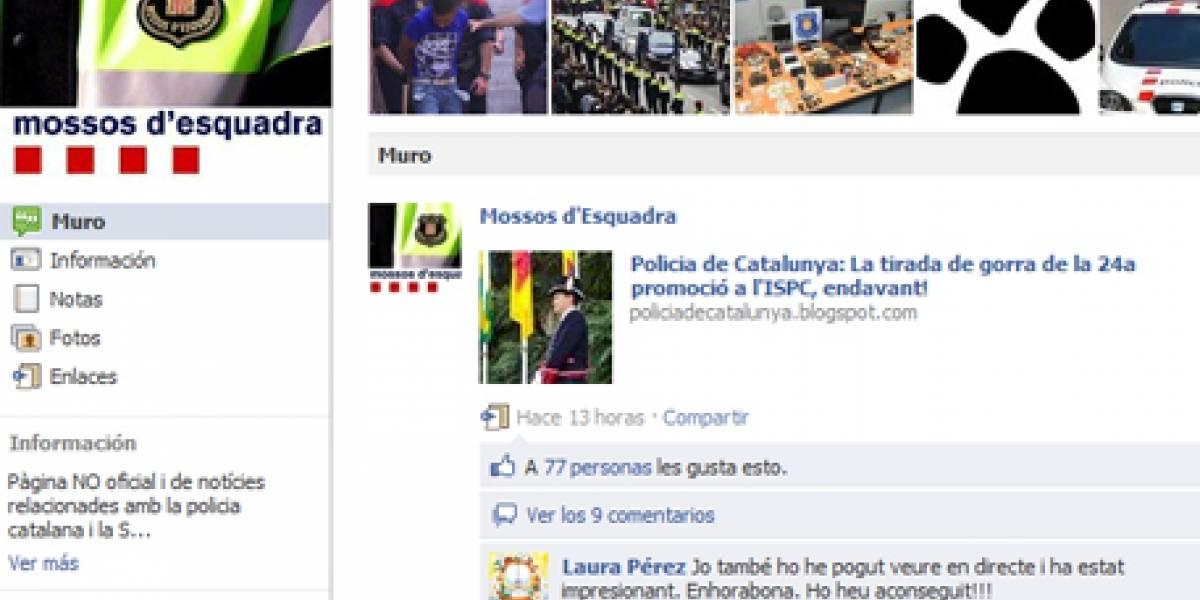 España: Mossos d'Esquadra usan Facebook para acercarse a los ciudadanos