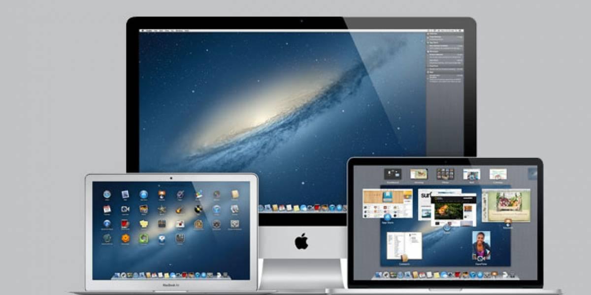 Estos son los modelos que soportan OS X Mountain Lion