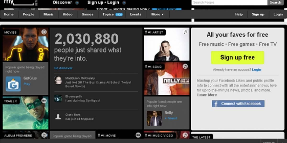"""Myspace oficialmente integrará Facebook Connect con """"Mashup"""""""
