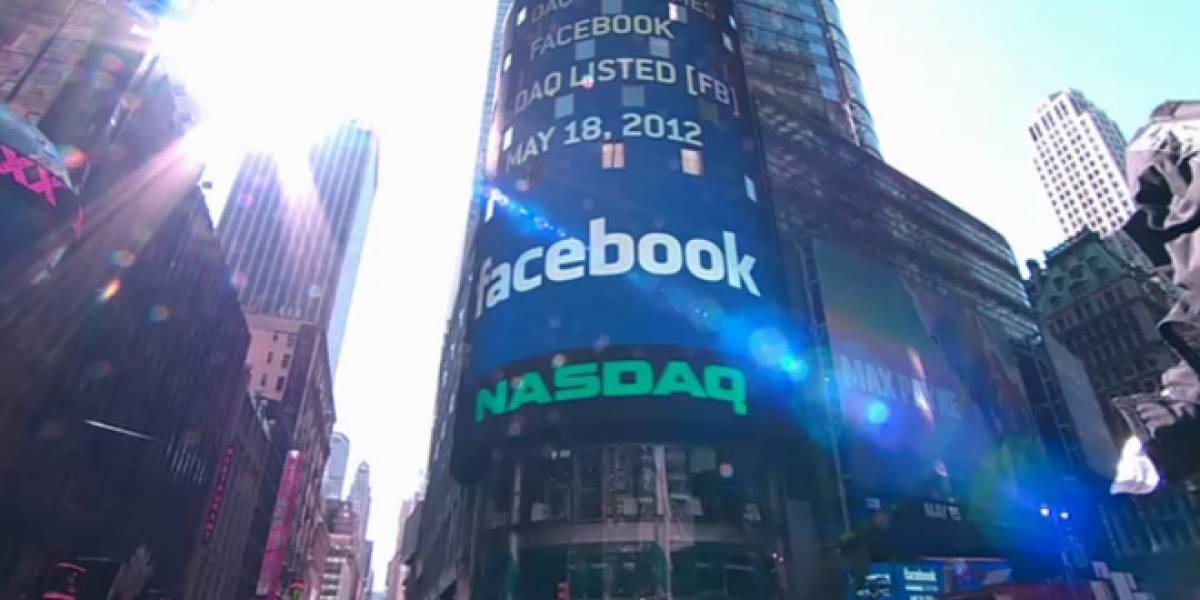 Facebook cierra su primer día en la bolsa sin mucho brillo