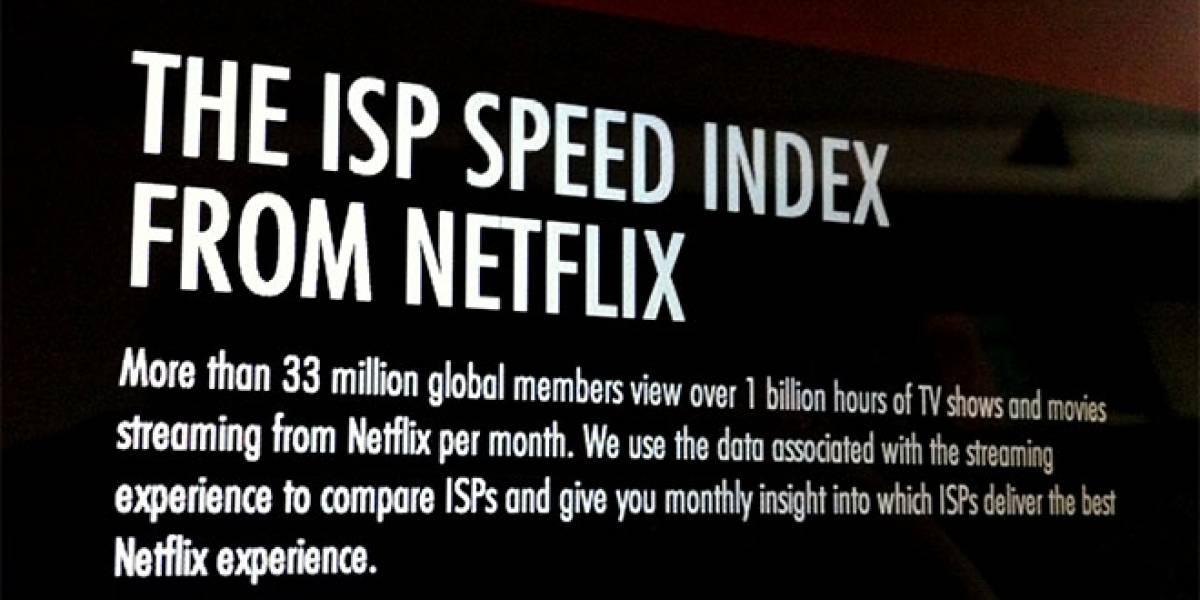 Netflix revela cuáles son los mejores proveedores de Internet para su servicio