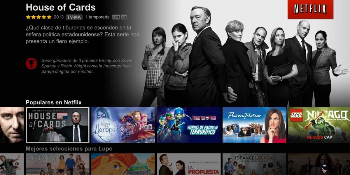 Netflix rediseña su interfaz para TV