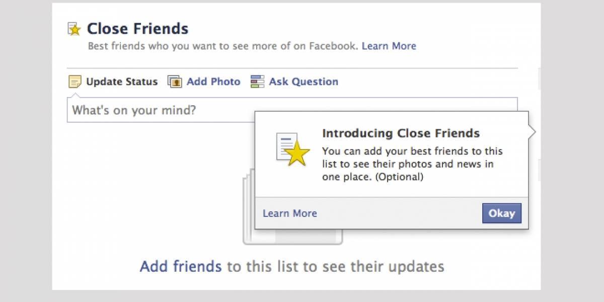 Facebook prueba nueva función para destacar a nuestros amigos más cercanos