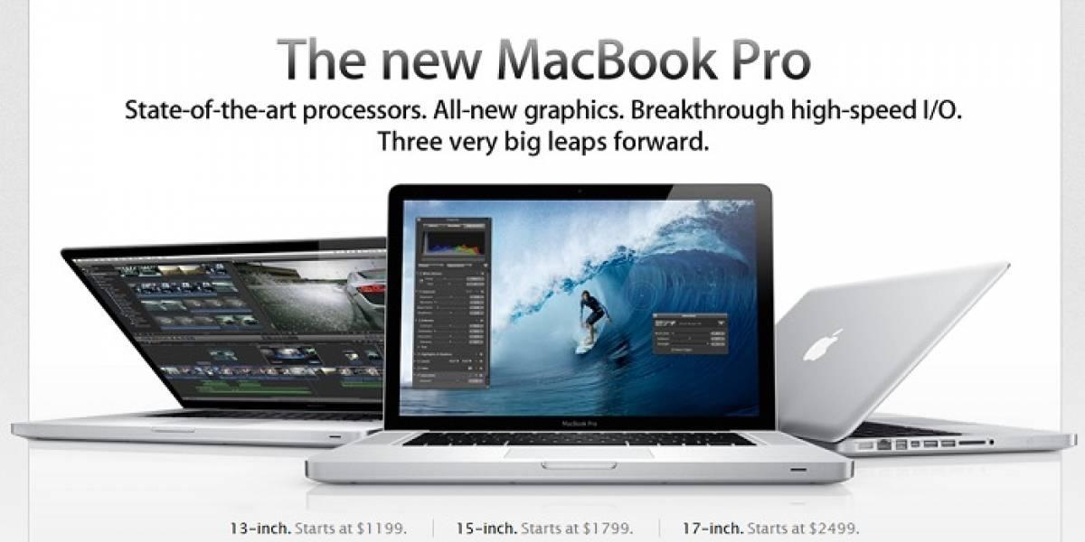 Apple mejoró los MacBook Pro