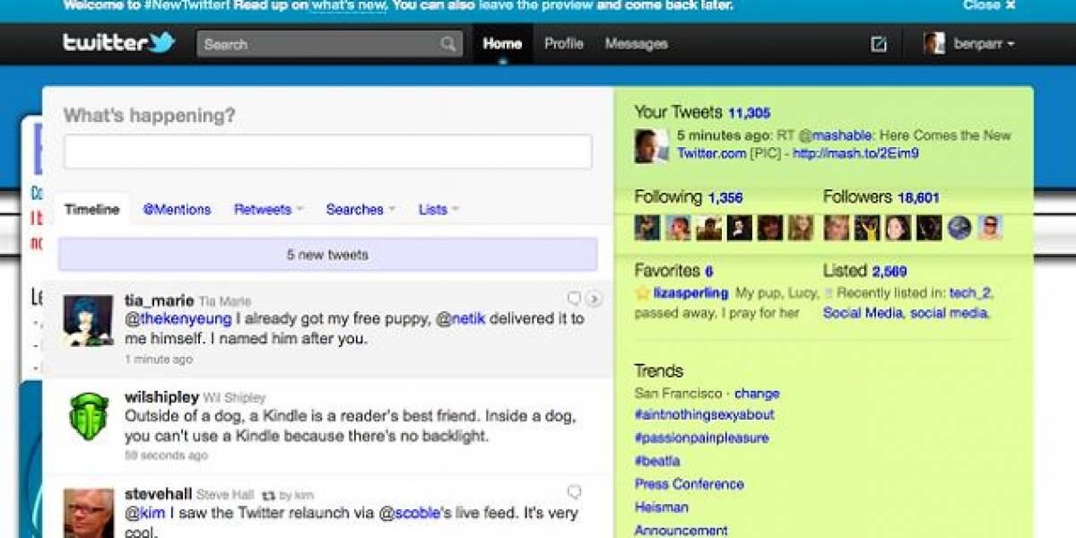 Twitter anuncia una nueva versión de su sitio, ahora más dinámico y multimedia