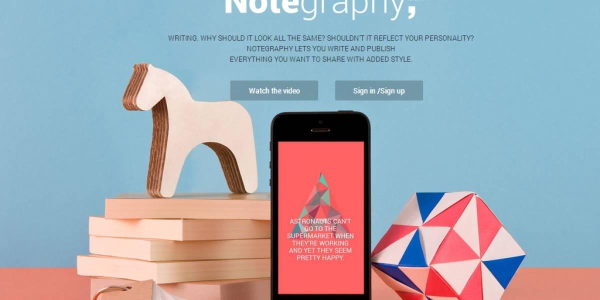 Notegraphy estiliza tus textos para que se destaquen [FW Startups]