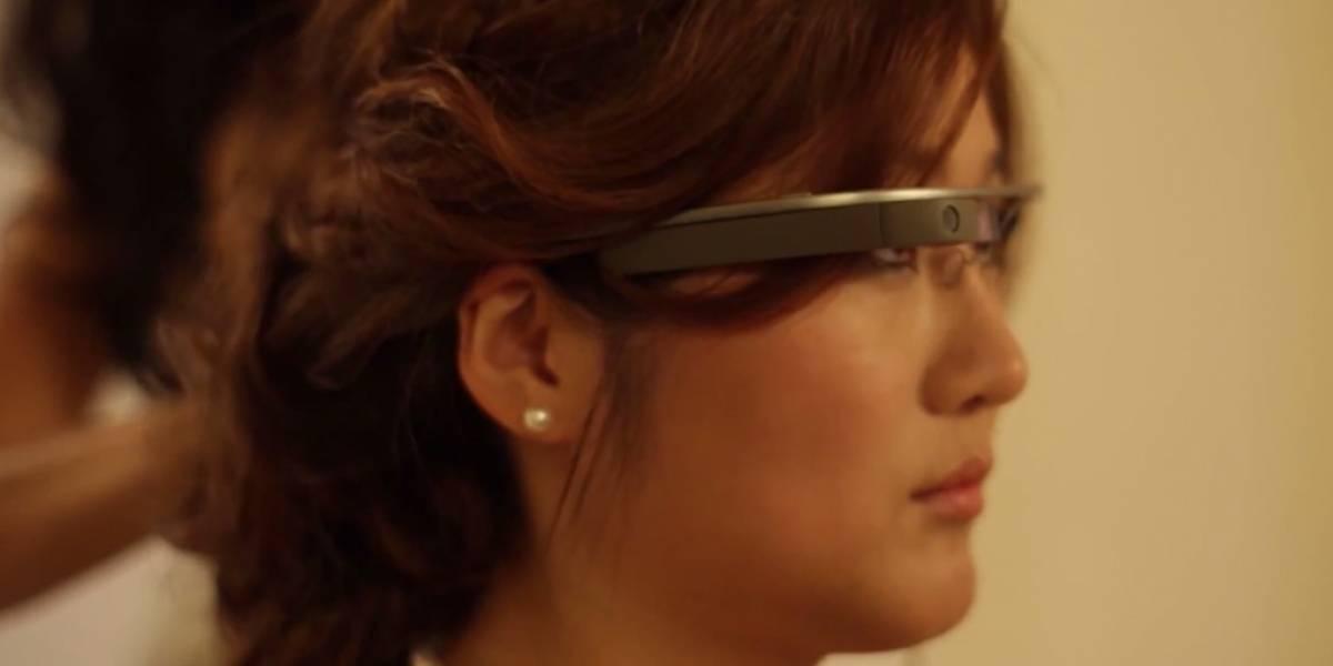 Novia graba su camino al altar usando Google Glass