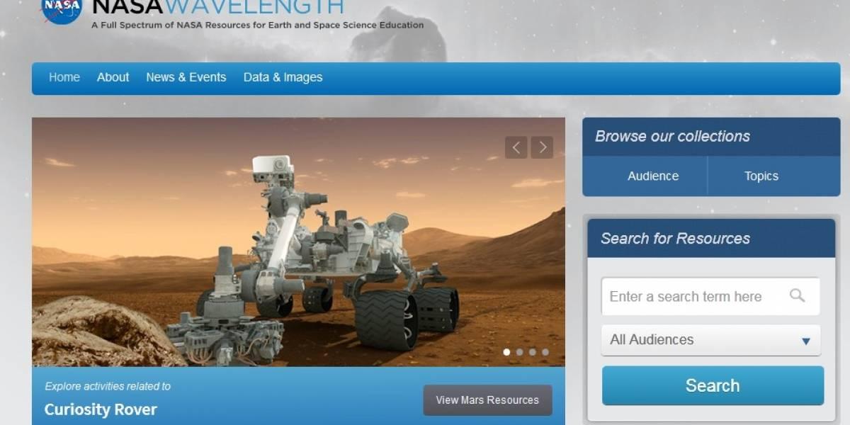 Wave Lenght: El nuevo portal educativo de la NASA