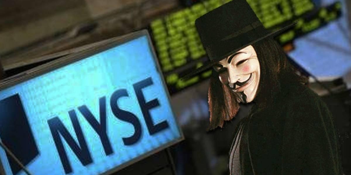 Anonymous ataca la Bolsa de Nueva York