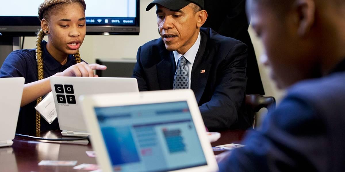 Obama se convirtió en el primer presidente estadounidense en escribir un programa de computadora