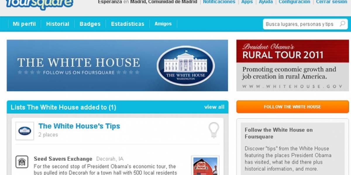 Obama estrena perfil en Foursquare