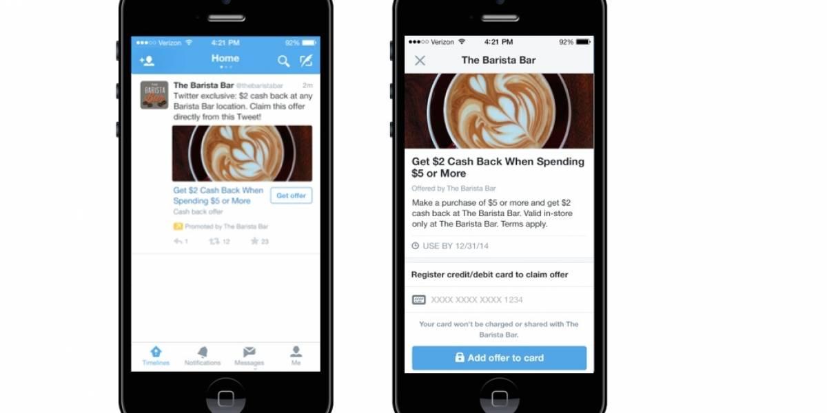 Twitter ahora promociona cupones de descuentos