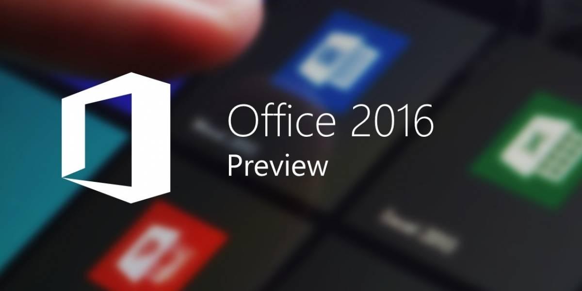 Microsoft libera la versión preliminar de Office 2016 a todo el público