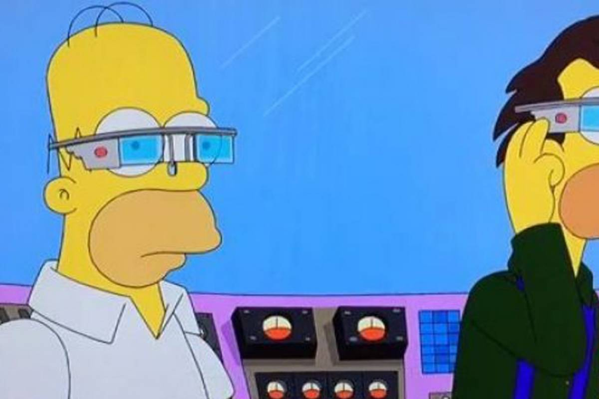 Los Simpson se burlan de Google Glass