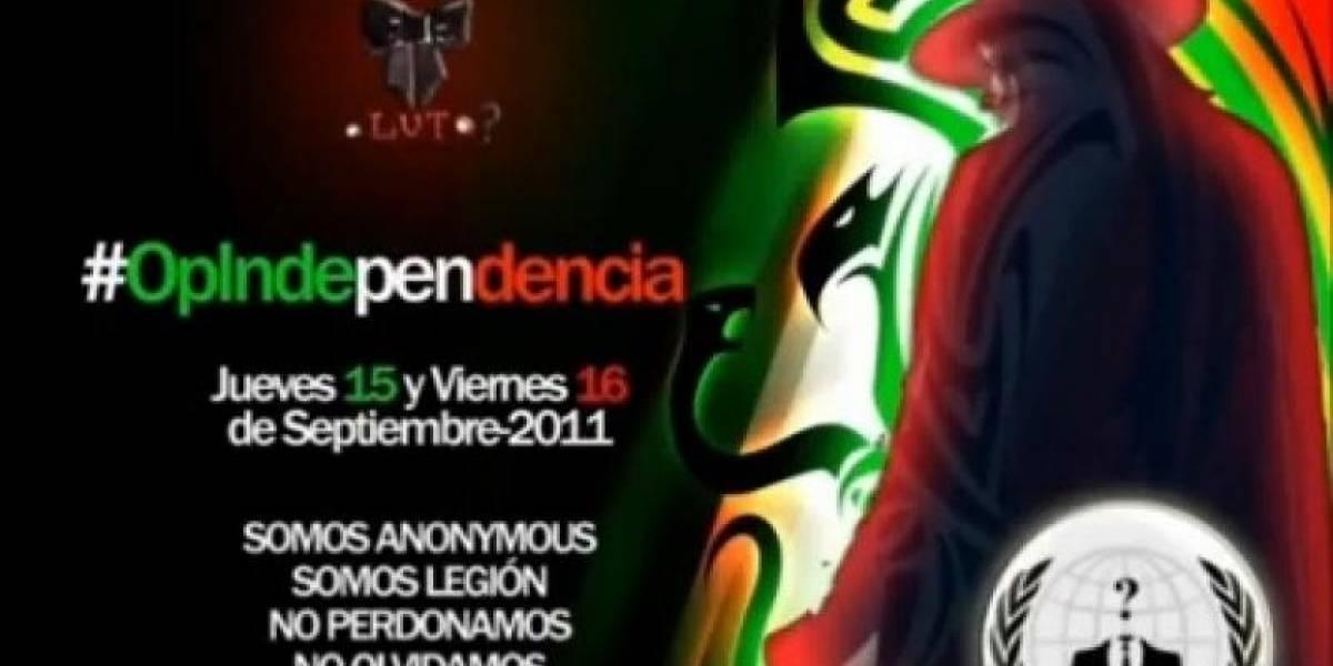 Anonymous ataca sitios del gobierno de México