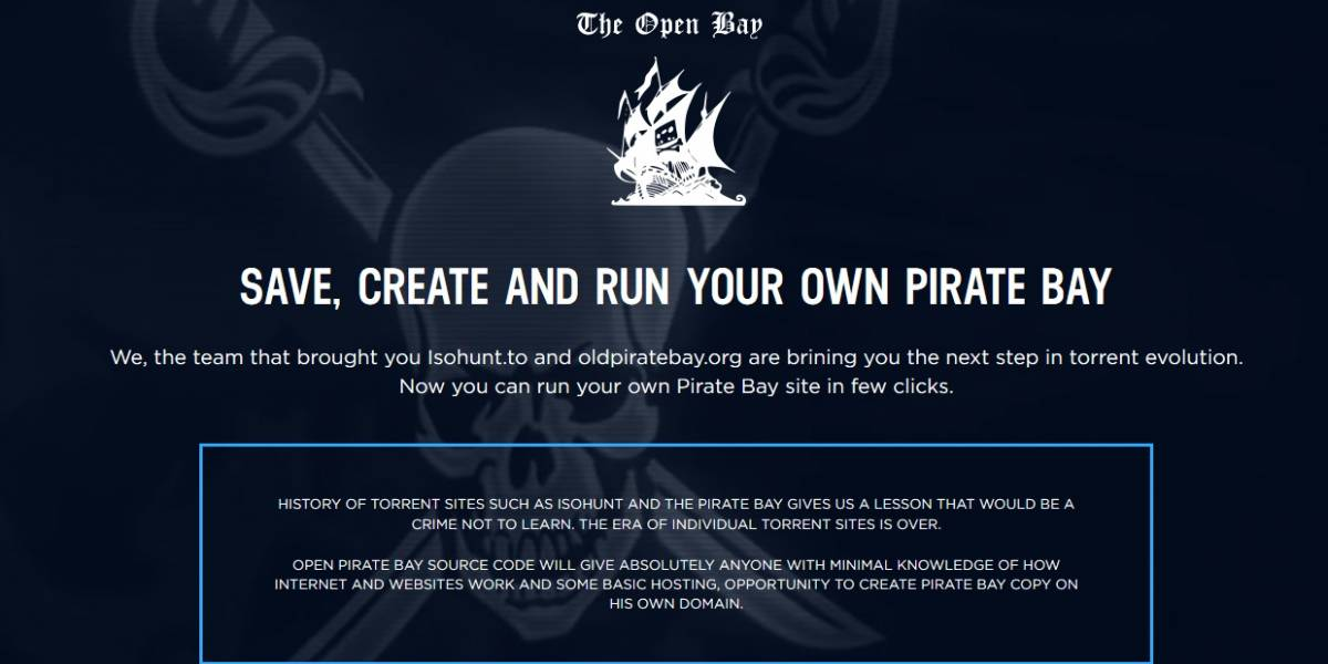 Crea tu propio The Pirate Bay con estas herramientas gratuitas