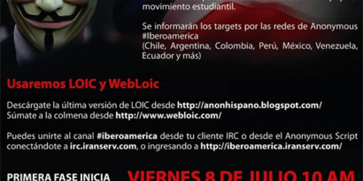 Anonymous convoca la Operación Maleducados contra el Gobierno de Chile