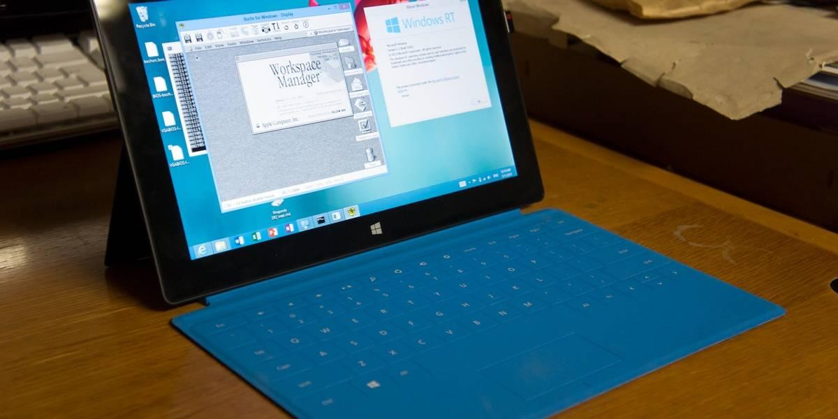Corren viejo sistema operativo de Apple en un Surface RT rooteado